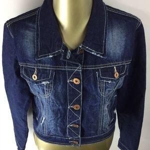 rue21 Women's  Button Down Blue Denim Jean Jacket